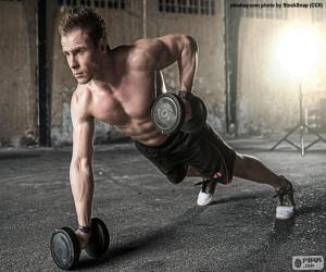 puzzel CrossFit met gewichten
