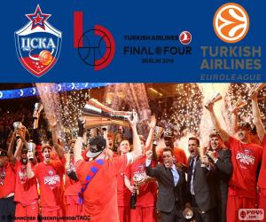 puzzel CSKA Moskou, 2016 Euroleague kampioen