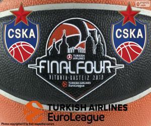 puzzel CSKA Moskou, 2019 EuroLeague kampioen