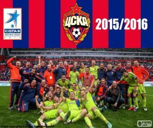 puzzel CSKA Moskou, kampioen 2015-2016