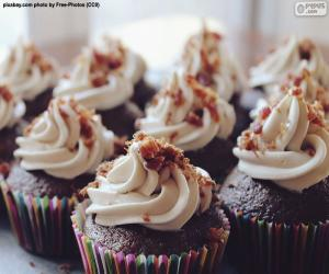 puzzel Cupcakes met glazuur