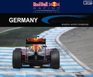 puzzel D. Ricciardo, de Duitse Grand Prix 2016