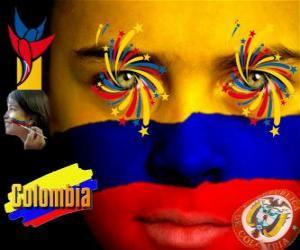 puzzel Dag van de Onafhankelijkheid van Colombia herdenkt het 20 juli 1810