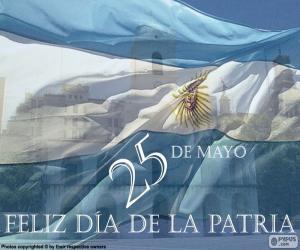 puzzel Dag van het thuisland Argentinië