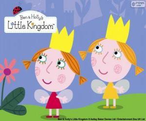 puzzel Daisy en Poppy, de twee feeën, de kleine zusters van Holly