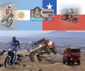 puzzel Dakar 2011 Argentinië Chili