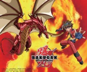 puzzel Dan Kuso en zijn Bakugan Pyrus Drago voogd