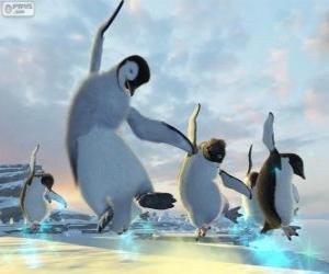 puzzel Dancing pinguïns in Happy Feet films