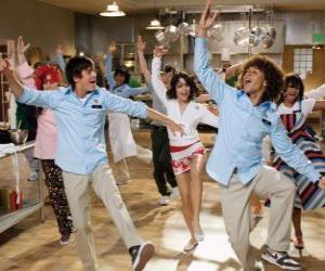 puzzel Dansen in de keuken
