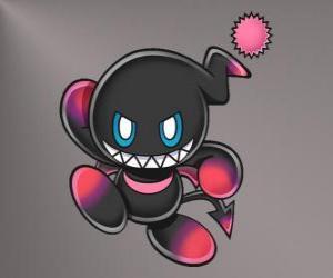 puzzel Dark Chao is het kwaad mascotte van Sonic games