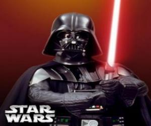 puzzel Darth Vader met zijn lightsaber