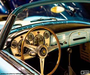 puzzel Dashboard van een klassieke auto