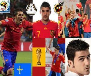 puzzel David Villa (Spanje doel) Spaanse nationale elftal vooruit