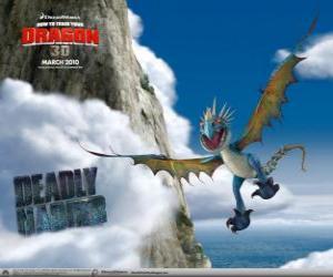 puzzel De Akelige Adder draken zijn snel en wendbaar in de lucht en kan vliegen voor lange afstanden