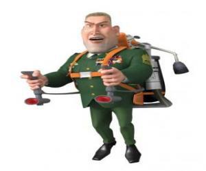 puzzel De Algemene WR Monger doen de militaire groet
