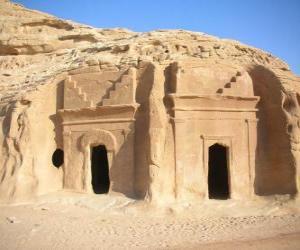 puzzel De archeologische site van Al-Hijr, Madain Salih, Saoedi-Arabië