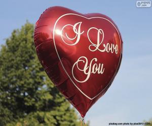 puzzel De ballon van de liefde