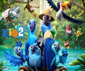 puzzel De belangrijkste karakters van de film Rio 2