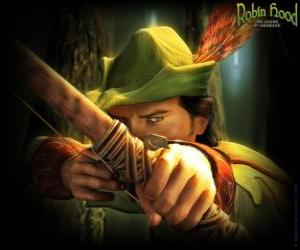 puzzel De beroemde boogschutter Robin Hood