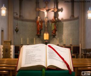 puzzel De Bijbel in de lezenaar