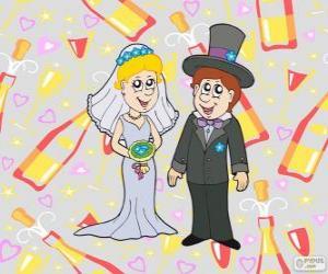 puzzel De bruid en de bruidegom
