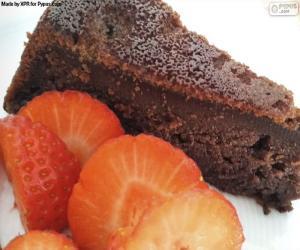 puzzel De cake van de chocolade