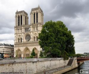 puzzel De Cathédrale Notre-Dame, Parijs
