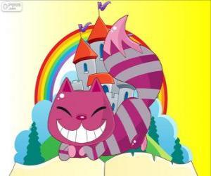 puzzel De Cheshire Kat verschijnt en weer verdwijnt