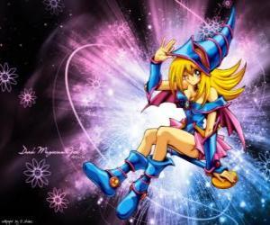 puzzel De Dark Magician Girl is een andere vorm dat Pegasus gebruikt tegen Kaiba