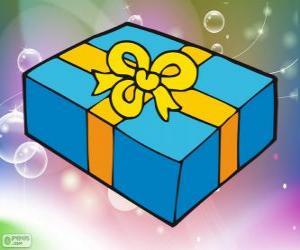 puzzel De doos van de Kerstmis cadeau