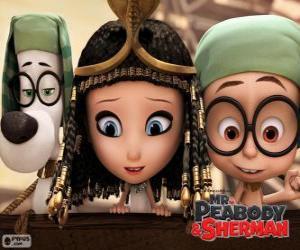 puzzel De drie hoofdrolspelers van de film Mr. Peabody en Sherman