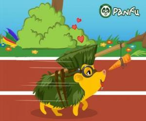 puzzel De egel Pokopet Hedgehog, een huisdier van Panfu