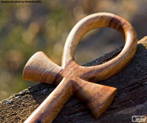 puzzel De Egyptische Ankh kruis