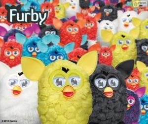 puzzel De Furbys, een elektronisch speelgoed