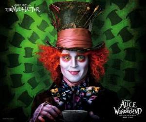 puzzel De gekke Hoedenmaker (Johnny Depp), een personage die helpt Alice