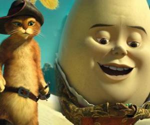 puzzel De Gelaarsde Kat en Humpty