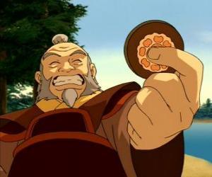 puzzel De gepensioneerde generaal Iroh bekend als de draak van het Westen is Zuko's oom en mentor