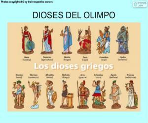 puzzel De Griekse goden