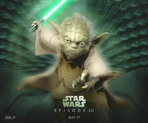 puzzel De grote meester Yoda, een Jedi master