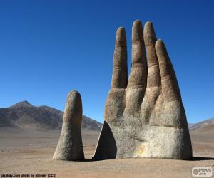 puzzel De Hand van de woestijn, Chile