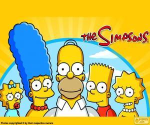puzzel De hele familie van Simpson