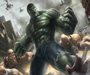 puzzel De Hulk met een vrijwel onbeperkte macht is een van de meest bekende superhelden