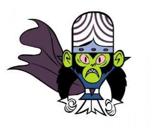 puzzel De intelligente aap Mojo Jojo is de grootste vijand van de Utonium zusters, de Powerpuff Girls