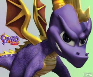puzzel De jonge draak Spyro, hoofdpersoon van Spyro the Dragon videogames