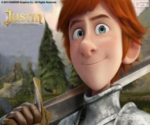 puzzel De jonge Justin wil worden een Knight
