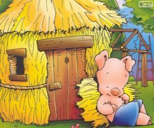 puzzel De jongere broer eindigt eerst zijn huis van stro