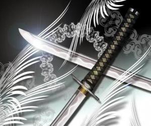 puzzel De katana is de meest bekende wapen van de ninja en samurai