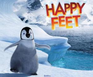 puzzel De kleine keizer pinguin, protagonist van Happy Feet