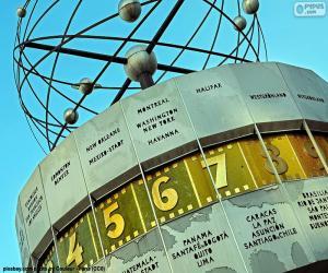 puzzel De klok van de wereld, Berlin, Duitsland