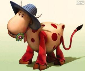 puzzel De koe Ermintrude, een van de personages uit De Minimolen